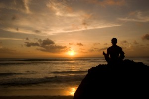 sunset meditate